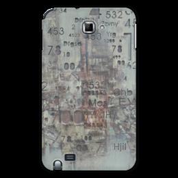 """Чехол для Samsung Galaxy Note """"Цифры"""" - арт, цифры, фактурный"""