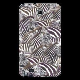 """Чехол для Samsung Galaxy Note """"Зебры"""" - полоска, зебра, черно-белое, акварель, стадо"""