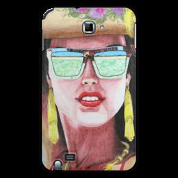 """Чехол для Samsung Galaxy Note """"Девушка в очках"""" - арт, девушка, стиль, рисунок"""