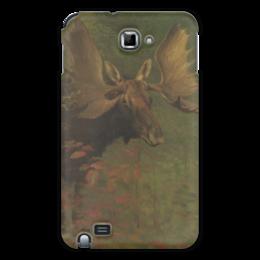 "Чехол для Samsung Galaxy Note ""Лось (Study of a moose)"" - картина, бирштадт"
