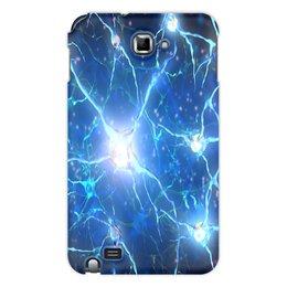 "Чехол для Samsung Galaxy Note ""Молекулы"" - узор, абстракция, текстура, химия, молекулы"
