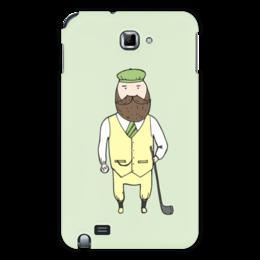 "Чехол для Samsung Galaxy Note ""Джентльмен с клюшкой для гольфа"" - мяч, борода, джентльмен, гольф, клюшка"