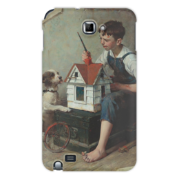 "Чехол для Samsung Galaxy Note ""Painting the little House"" - картина, роквелл"