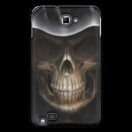 """Чехол для Samsung Galaxy Note """"Череп в капюшоне"""" - череп, кости, смерть, зубы"""