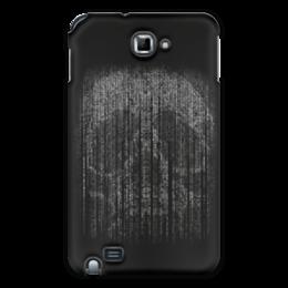 "Чехол для Samsung Galaxy Note ""Голограмма череп"" - череп, кости, смерть, голограмма"
