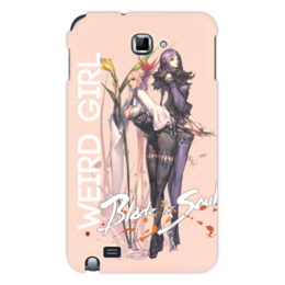 "Чехол для Samsung Galaxy Note ""Blade & Soul Series"" - девушка, girl, рисунок, blade & soul, bakunyuu"