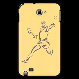 """Чехол для Samsung Galaxy Note """"Большой теннис"""" - спорт, спортсмен, ракетка, мяч"""