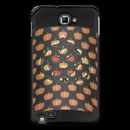 "Чехол для Samsung Galaxy Note ""Хеллоуин"" - хэллоуин, рожица, тыква, тыквы, чудовище"