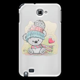 "Чехол для Samsung Galaxy Note ""Медвежонок"" - юмор, зима, рисунок, мультяшка, медвежонок"