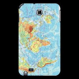 """Чехол для Samsung Galaxy Note """"Карта мира"""" - мир, карта, география"""