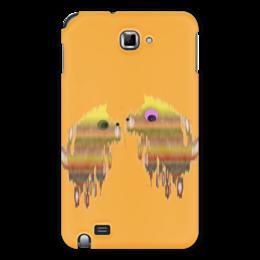 """Чехол для Samsung Galaxy Note """"Собачки"""" - смешная, собака, символ года, добрая, веселый"""
