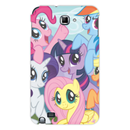 "Чехол для Samsung Galaxy Note ""My Little Pony"" - rainbow dash, my little pony, applejack, friendship is magic, twilight sparkle"