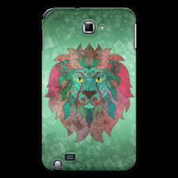 """Чехол для Samsung Galaxy Note """"Яркий лев"""" - лев, графика, зеленый, яркий лев"""