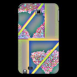 """Чехол для Samsung Galaxy Note """"Инверсия сердца"""" - сердце, сердца, желтый, розовый, синий"""