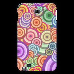 """Чехол для Samsung Galaxy Note """"Цветные круги"""" - узор, стиль, рисунок, орнамент, абстракция"""