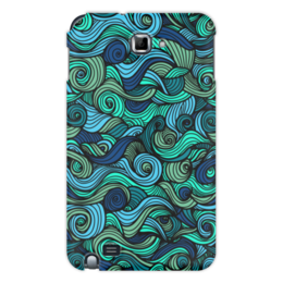 """Чехол для Samsung Galaxy Note """"Волнистый"""" - арт, узор, волна, орнамент, абстракция"""