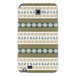 """Чехол для Samsung Galaxy Note """"Скандинавский узор"""" - узор, зима, орнамент, олень, снежинка"""