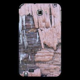 """Чехол для Samsung Galaxy Note """"Деревянный"""" - оригинальный, деревянный, амбарная доска"""