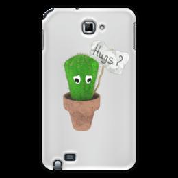 "Чехол для Samsung Galaxy Note ""Hugs?"" - обнимашки, колючий, грустный, кактус, hugs"