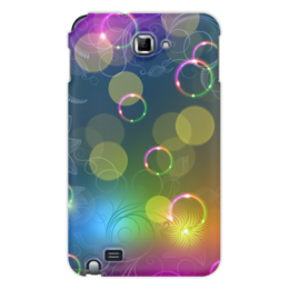 "Чехол для Samsung Galaxy Note ""Калейдоскоп"" - цветы, абстракция"