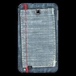 """Чехол для Samsung Galaxy Note """"Джинса"""" - стиль, стильный, джинсы, джинса, джинсовый"""