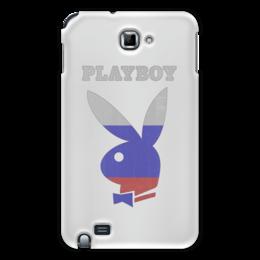 """Чехол для Samsung Galaxy Note """"Playboy Россия"""" - плейбой, плэйбой, россия, зайчик, playboy"""