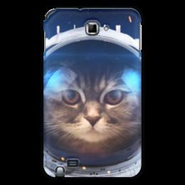 """Чехол для Samsung Galaxy Note """"Котосмонавт"""" - кот, космос, животное, костюм"""