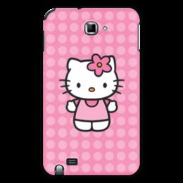 "Чехол для Samsung Galaxy Note ""Kitty в горошек"" - мультик, hello kitty, мультфильм, для детей, привет китти"