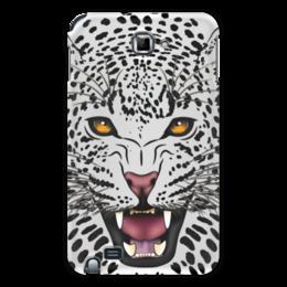 "Чехол для Samsung Galaxy Note ""Леопард"" - животные, рисунок, коты, леопард, хищники"