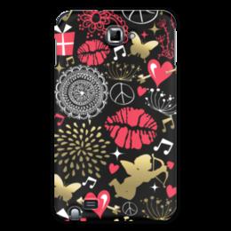 "Чехол для Samsung Galaxy Note ""Валентинка"" - сердце, любовь, губы, валентинка"