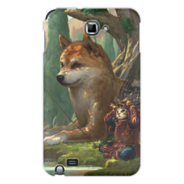 "Чехол для Samsung Galaxy Note ""Samurai cat"" - самурай, doge, сиба ину, доге"