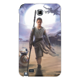 """Чехол для Samsung Galaxy Note """"Звездные войны - Рей"""" - кино, фантастика, star wars, звездные войны, дарт вейдер"""