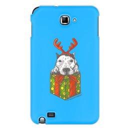 """Чехол для Samsung Galaxy Note """"новый год"""" - новый год, зима, собака, подарок, год собаки"""