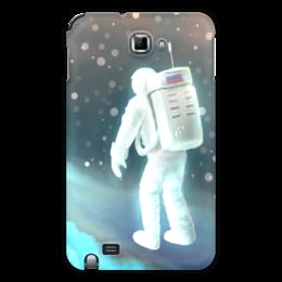 """Чехол для Samsung Galaxy Note """"Космический путешественник"""" - звезды, рисунок, космос, космонавт"""
