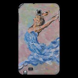 """Чехол для Samsung Galaxy Note """"Полет"""" - в подарок, балерина, воздушно, ballet, air"""