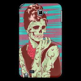 """Чехол для Samsung Galaxy Note """"Одри Хепберн (зомби)"""" - skull, череп, зомби, одри хепберн, икона стиля"""