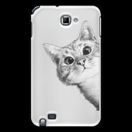 """Чехол для Samsung Galaxy Note """"Любопытный кот"""" - кот, стиль, cat, кошки, swag"""