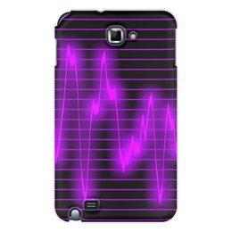 "Чехол для Samsung Galaxy Note ""Мелодия"" - музыка, узор, звук, краски, звуковая волна"