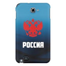 """Чехол для Samsung Galaxy Note """"Россия"""" - россия, герб, russia, орел, флаг"""