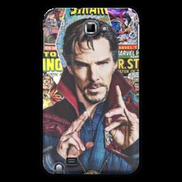 """Чехол для Samsung Galaxy Note """"Marvel"""" - комиксы, кино, арты, стредж"""