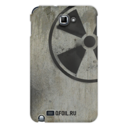 """Чехол для Samsung Galaxy Note """"Логотип-трафарет"""" - сталкер, тёмная душа"""