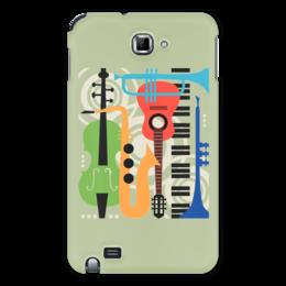 """Чехол для Samsung Galaxy Note """"Музыкальные инструменты"""" - музыка, гитара, скрипка, инструменты, саксафон"""