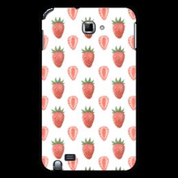 """Чехол для Samsung Galaxy Note """"Акварельная клубника"""" - красный, клубника, ягода, акварель"""