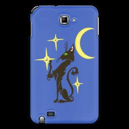 "Чехол для Samsung Galaxy Note ""Ночная кошка"" - кот, кошка, звезда, cat, луна"