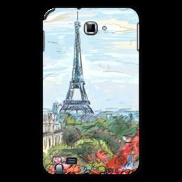 "Чехол для Samsung Galaxy Note ""Эйфелева башня"" - графика, франция, париж, эйфелева башня"