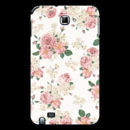 """Чехол для Samsung Galaxy Note """"Цветы"""" - цветы, роза, листья, букет, шиповник"""