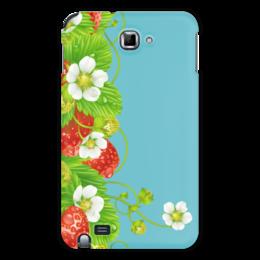 """Чехол для Samsung Galaxy Note """"Земляничная поляна"""" - лето, цветы, ягоды, земляника"""
