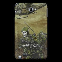 """Чехол для Samsung Galaxy Note """"Война"""" - череп, скелет, война, оружие, солдаты"""