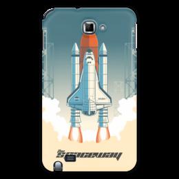 """Чехол для Samsung Galaxy Note """"Покорение космоса"""" - космос, ракета, астрономия, шатл, thespaceway"""