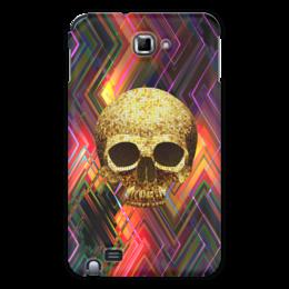 """Чехол для Samsung Galaxy Note """"Черепушка"""" - череп, абстракция, краски, линии, полосы"""